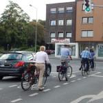 Abbiegen für Radfahrer in Dinslaken