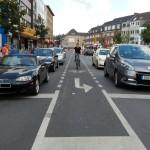 Linksabbiegen für Radfahrer