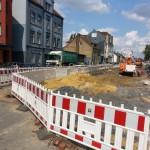 Radwegumbau B51 Baustelle