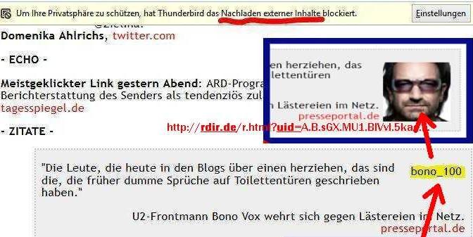 meinInternet: Überwachung per E-Mail
