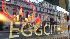 Eggcited about London Foto mit Smartphone geschossen.