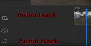 PowerDirector Touch tracks