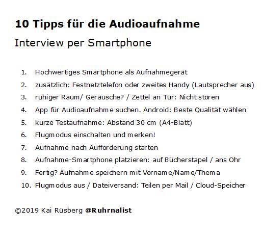10 Tipps Smartphoneaufnahme